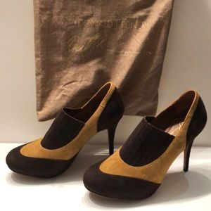 """Donald Pliner platform suede 4.5"""" heels"""